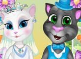 لعبة حفل زفاف توم وانجيلا