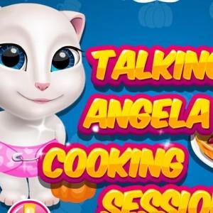 العاب طبخ الكيك مع القطة المتكلمة انجيلا