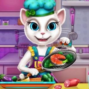 العاب طبخ القطة انجيلا