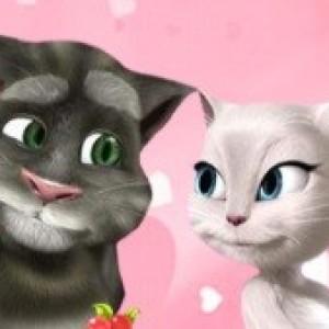 العاب  توم وانجيلا حب