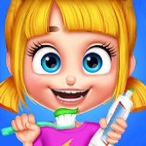 لعبة تنظيف الاسنان بالفرشاة والمعجون